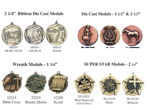 music - misc medals